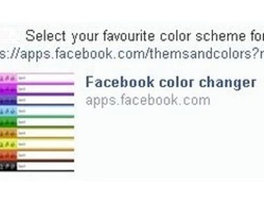 Facebook color changer scam