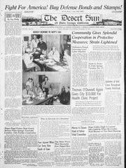 Front page of the Dec. 12 - Dec. 19, 1941 Desert Sun