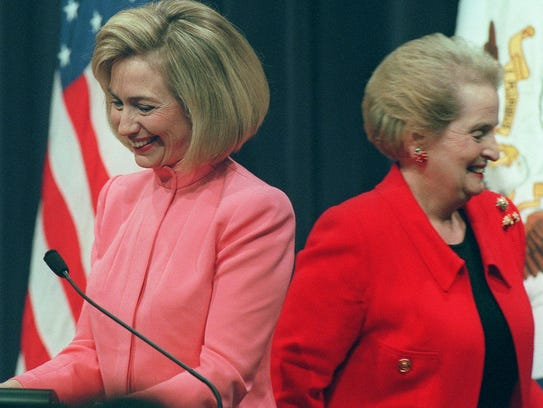 In this March 12, 1997, file photo, first lady Hillary