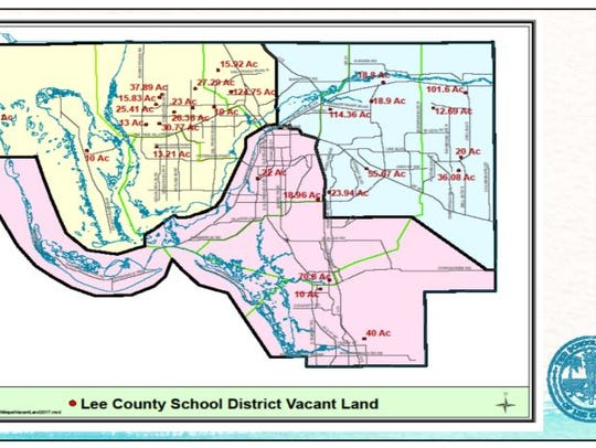 Lee County schools owns 28 parcels of vacant land.