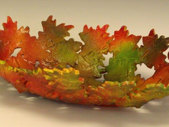 Madeleine Sabo's ceramic leaf bowl.