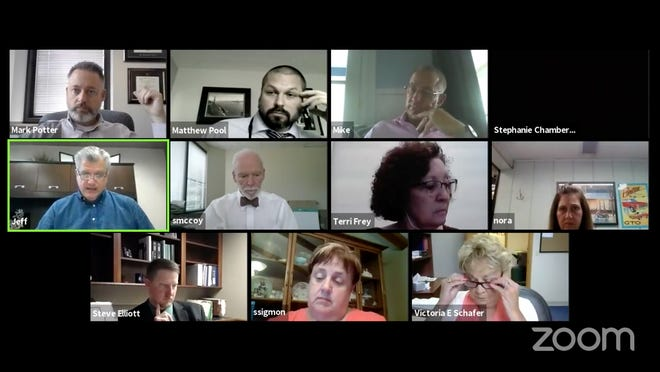 A screenshot shows the virtual meeting of the Summit County Nursing Homes and Facilities Task Force on Tuesday, July 21, 2020.