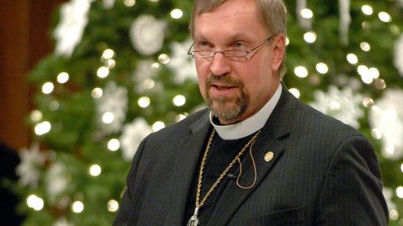 Bishop David Zellmer is shown in 2010.