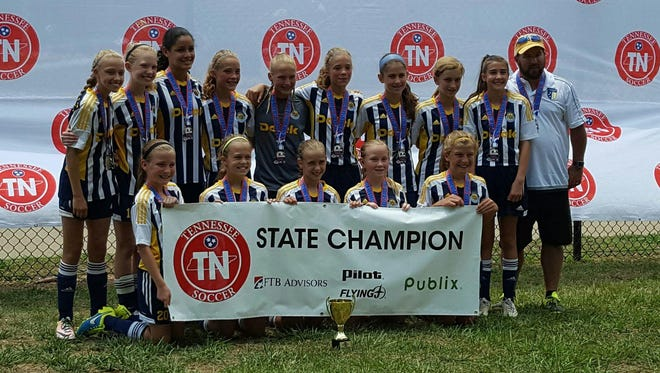 The Storm, a U12 travel soccer team within the  Murfreesboro FC Youth Club won the Division I state tournament on Sunday.