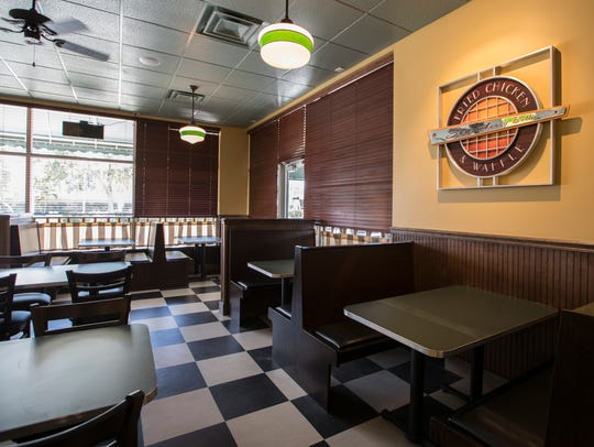 The interior area of the new Metro Diner location which