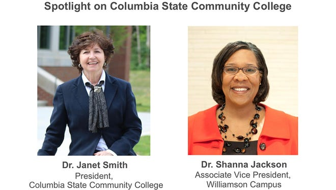 Dr. Janet Smith and Dr. Shanna Jackson will discuss Williamson County's new Columbia State campus at Friday's roundtable event.