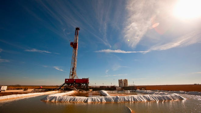 A drilling rig is shown in the Permian Basin region of Texas. U.S. oil producers are facing uncertain times as the price of oil plummets amid a price war between Saudi Arabia and Russia.