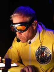 Alton Brown performs at his 'Eat Your Science' show.
