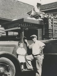 Jim Cropsey (left) and his father, William Wallace