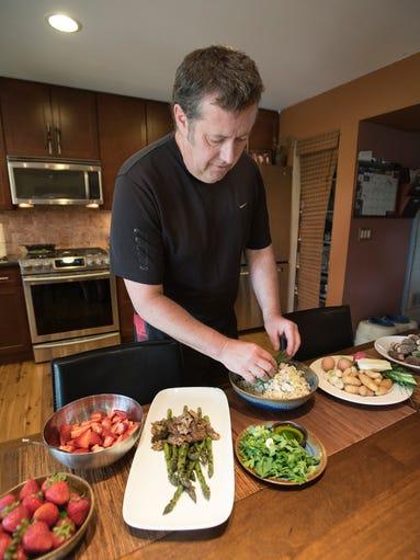Eric Ward, Joe Murer's Seafood executive chef, prepares