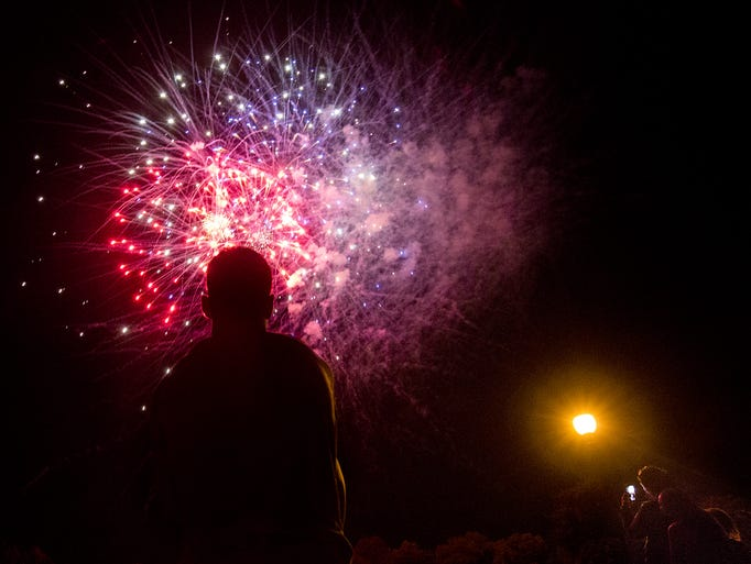 Labor Day fireworks at Kiwanis Lake in York, Monday,