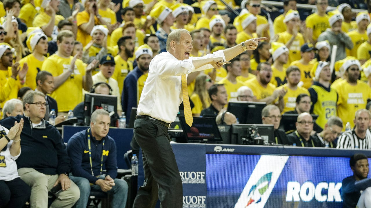 Michigan coach John Beilein discusses his team's 15-point comeback win over UCLA, 78-69, in overtime at Crisler Center on Saturday, Dec. 9, 2017.