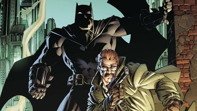"""The Dark Knight and Gotham cop James Gordon team up yet again in the first issue of the new weekly series """"Batman Eternal."""""""