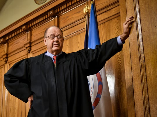 Former Ingham County Judge William Collette, who retired in June 2018 after nearly 40 years on the bench.