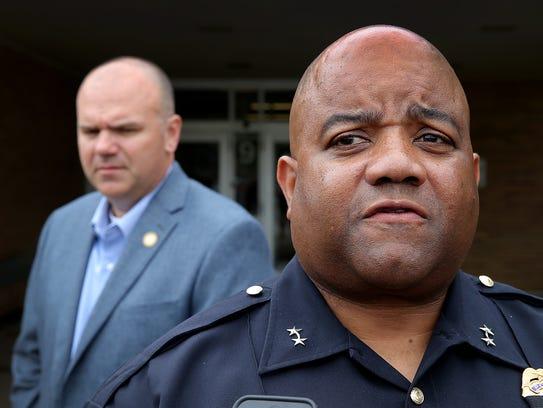 Indianapolis Metropolitan Police Chief Rick Hite (foreground)
