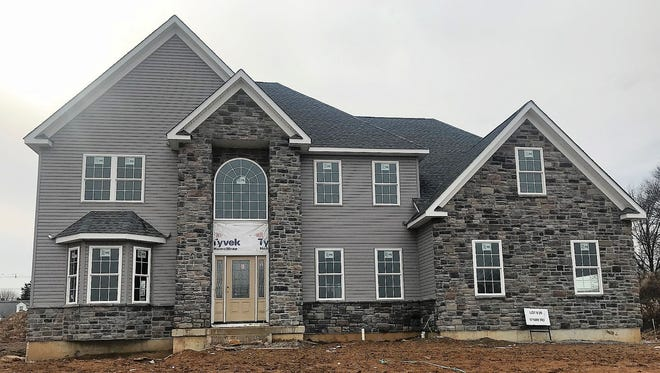 This Bainbridge Model is nearing completion at The Enclave at East Brunswick.