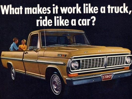 Ford pickup truck ad