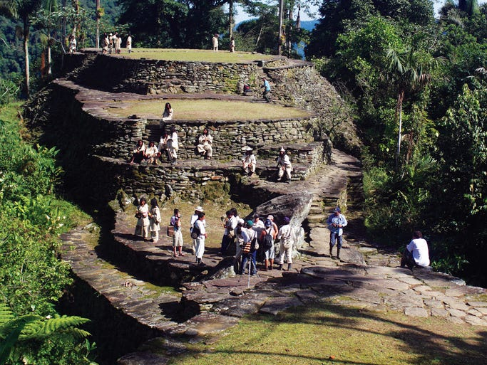 "The Global Heritage Fund identifies lesser-known architectural wonders, cultures and traditions that are threatened by hazards including industrialization, unchecked tourism, ranching, looting and neglect. Ciudad Perdida, Colombia: Overshadowed by better-known Machu Picchu in Peru, this ""Lost City"" was once a political and economic hub."