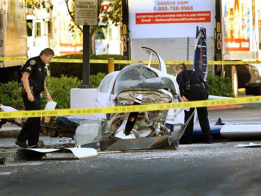 Plane strikes San Diego shopping center