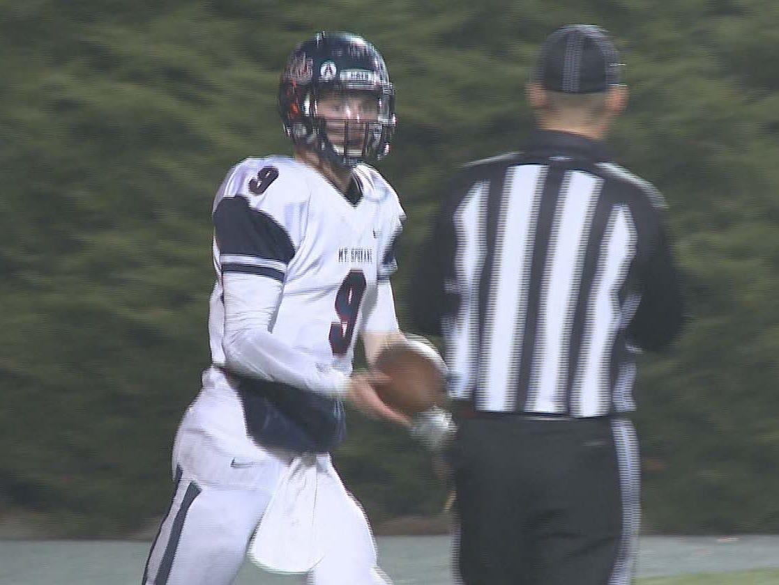 Mt. Spokane quarterback Matt Pulliam came through huge in their win over Shadle Park.