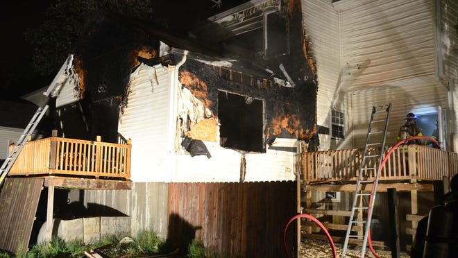 A fire broke out on the first floor of this Cedar Avenue home in Barrington Thursday night.