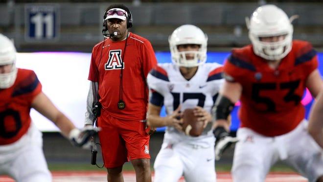Arizona Wildcats head coach Kevin Sumlin.