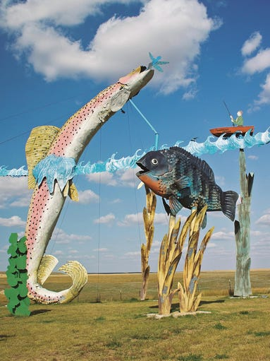 The Enchanted Highway and its fantastical metal sculptures