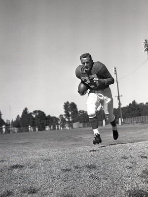 The New York Giants trained on the athletic fields at Bush's Pasture Park in Salem during the 1954, '55 and '58 seasons.