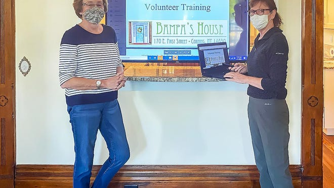 Joan Wilson, President of the Bampa's House Board of Directors, and facility Executive Director Ann Roberts are searching for those willing to volunteer their time at the comfort care home once it opens in mid-summer.