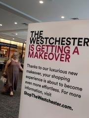 A sign informs shoppers about the renovations at The