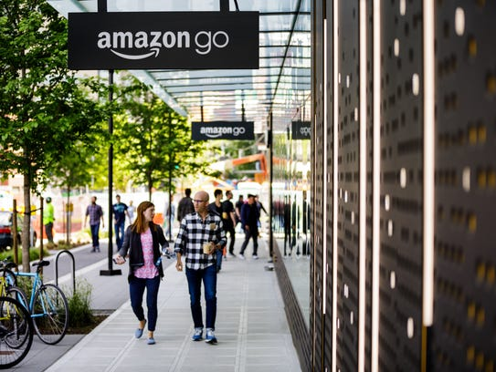 An Amazon Go store near the online retailer's corporate