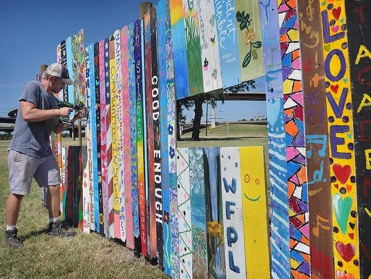 Arts Alliance Fence Project Taking Shape Wichita Falls
