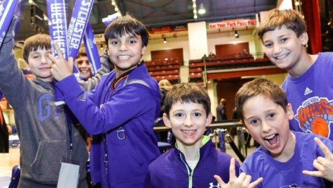Show us your game faces and win a four-pack of tickets to Westchester Knicks Family Night at the County Center on Feb. 17