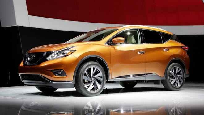 The 2015 Nissan Murano SUV is introduced at the New York International Auto Show