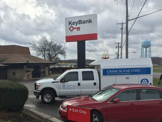 Investigators are on the scene at Key Bank in Ontario.