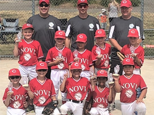 The Reds were the Novi Baseball League's 8-and-under Pinto Division champions.