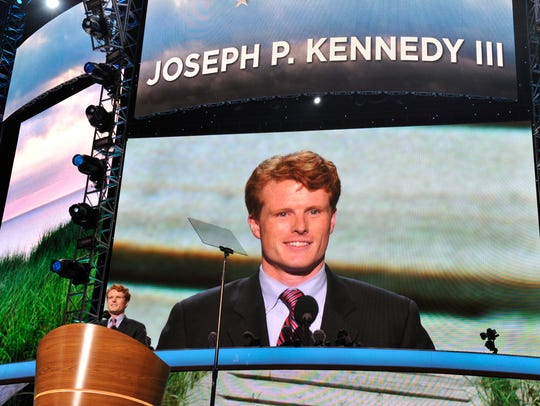 Joe Kennedy III, in the midst his House campaign, speaks