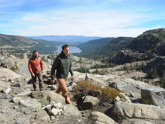 Justin Lichter, left, and Shawn Forry on Donner Summit