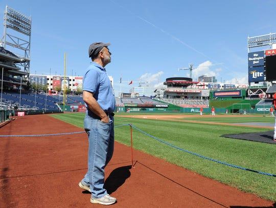 Ben Bernanke attends a Nationals baseball game in Washington