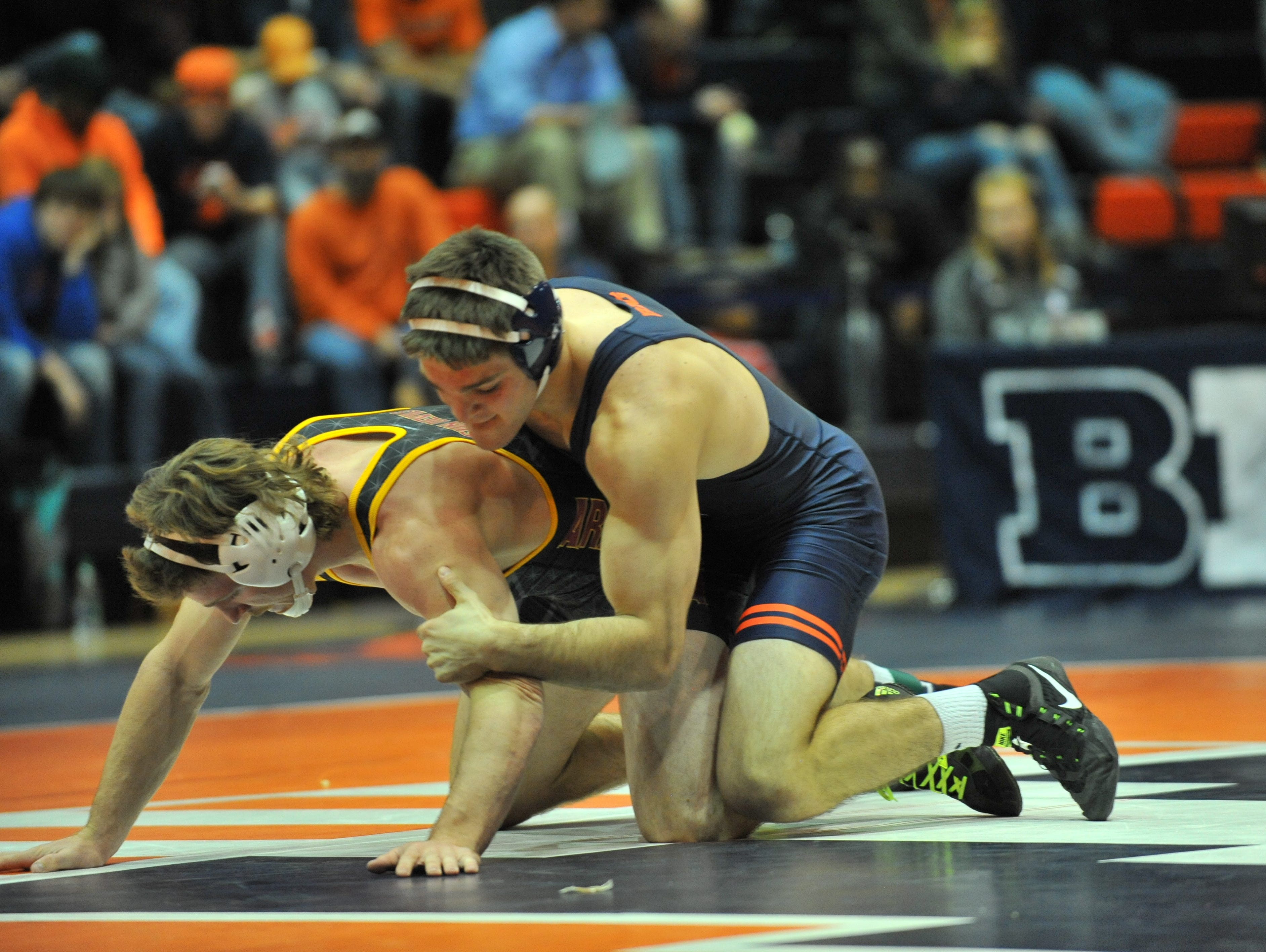 Submitted photo of Illinois wrestler Steven Rodrigues, a Fox Lane graduate who will be competing at Sunday's Grapple at the Garden.