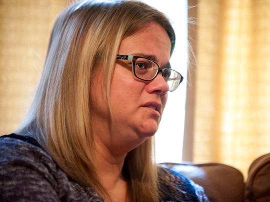 """Julie Hartley, Ian Hartley's mother, talks about her son's suicide on Thursday, May 12 at her apartment in Charlotte. She said the guideline changes CMH plans to implement are """"a step in the right direction."""""""