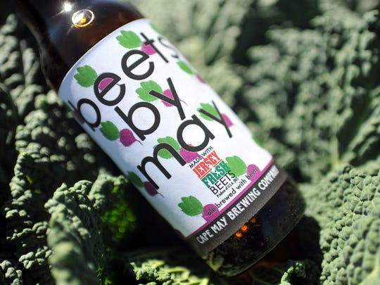 A special bottle of Cape May Brewing Company's Beets By May pictured at Formisano Farms in Buena.