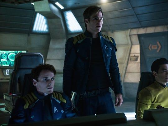 Left to right: Anton Yelchin plays Chekov, Chris Pine