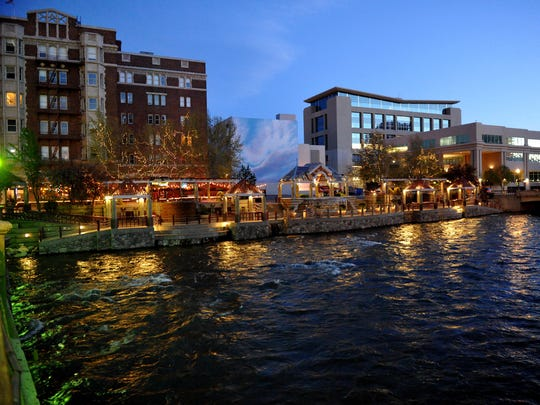 Reno's Riverwalk district.
