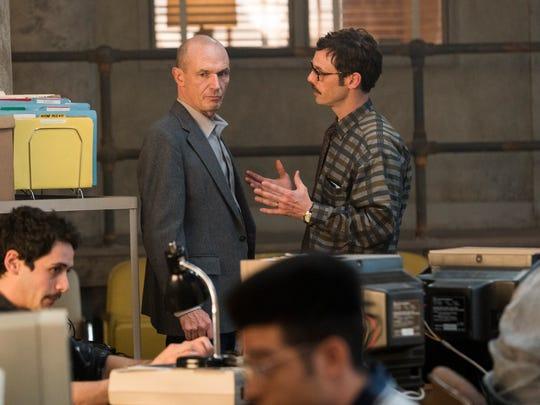 John Bosworth (Toby Huss), left, and Gordon Clark (Scoot