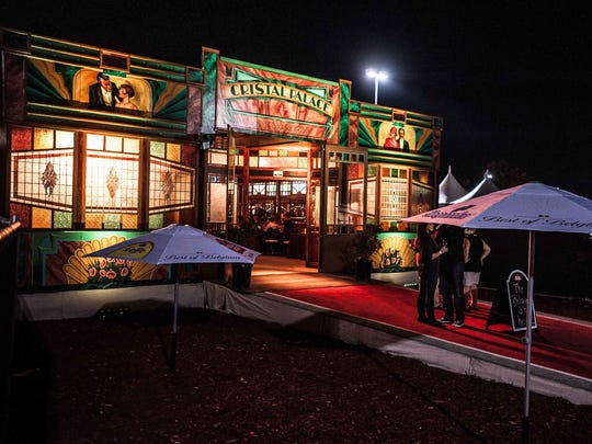 The Spiegeltent, seen here from Fringe three years ago, returns this year.