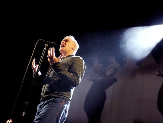 LOS ANGELES, CA - Morrissey performs at The Staples