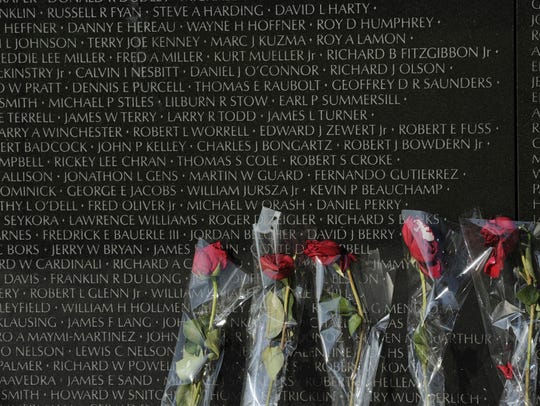 The Vietnam Veterans Memorial in Washington, D.C.