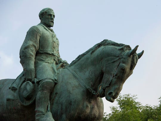 The statue of Confederate Army of Northern Virginia