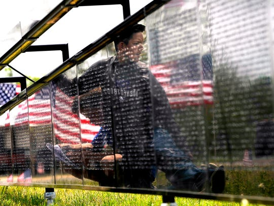 The Wall That Heals is pictured during a stop in Texas in April.